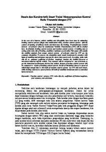 Desain dan Karakteristik Smart Traksi Mempergunakan Kontrol Ratio Transmisi dengan CVT