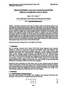 DESAIN KONTROL PATH FOLLOWING QUADCOPTER DENGAN ALGORITMA LINE OF SIGHT