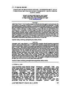 DESAIN SISTEM MONITORING NIRKABEL BERBASIS WEBSITE UNTUK PEMANTAUAN BATERAI DAN BEBAN PEMBANGKIT LISTRIK HIBRIDA SURYA - ANGIN