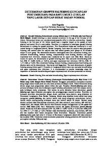 DETERMINAN GROWTH FALTERING (GUNCANGAN PERTUMBUHAN) PADA BAYI UMUR 2-12 BULAN YANG LAHIR DENGAN BERAT BADAN NORMAL