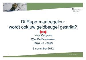 Di Rupo-maatregelen: wordt ook uw geldbeugel gestrikt?