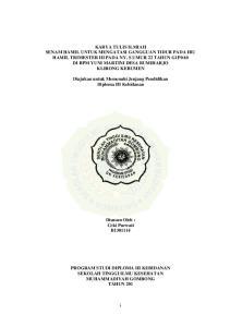 Diajukan untuk Memenuhi Jenjang Pendidikan Diploma III Kebidanan. Disusun Oleh : Ceki Purwati B