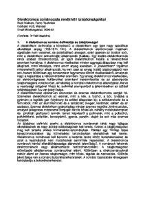 Dielektromos zománcozás rendkívüli tulajdonságokkal Rudi Meinen, Ferro Techniek Eckhard Voß, Wendel  Mitteilungsblatt,