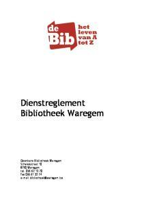 Dienstreglement Bibliotheek Waregem
