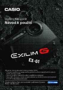 Digitální fotoaparát Návod k použití