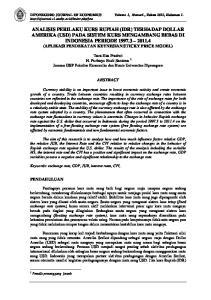 DIPONEGORO JOURNAL OF ECONOMICS Volume I, Nomor1., Tahun 2012, Halaman 1