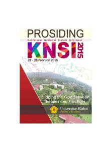 Dipublikasikan Tahun 2015 Oleh: Fakultas Ilmu Komputer Universitas Klabat Airmadidi, Minahasa Utara, Sulawesi Utara ISSN :