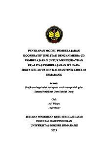 disajikan sebagai salah satu syarat untuk memperoleh gelar Sarjana Pendidikan Guru Sekolah Dasar Oleh Adi Wijaya