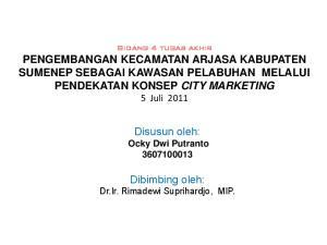 Disusun oleh: Dibimbing oleh: Dr.Ir. Rimadewi Suprihardjo, MIP