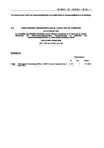 Dit document vormt slechts een documentatiehulpmiddel en verschijnt buiten de verantwoordelijkheid van de instellingen