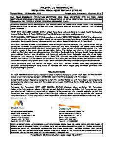 diterbitkan OJK REKSA DANA MEGA yang Undang-Undang bersangkutan. Pemegang Unit Unit Penyertaan dan biaya MANAJER INVESTASI BANK KUSTODIAN