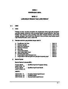 DIVISI 6 PERKERASAN ASPAL SEKSI 6.1 LAPIS RESAP PENGIKAT DAN LAPIS PEREKAT