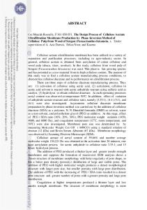 (DMF) dengan perbandingan 1:3, 1:4, 1:5, dan 1:6 untuk memperoleh larutan polimer homogen. Perancangan proses pembuatan membran dilakukan dua tahap