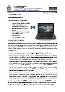 DMR Promo Scanner HP. Kepada Yth Bandung, September 2009 Peminat Netbook HP Spesifikasi Netbook HP 1013 MiniNote: