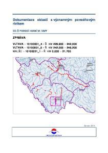 Dokumentace oblastí s významným povodňovým rizikem