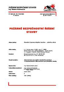 dokumentace pro vydání stavebního povolení v rozpracovanosti dokumentace pro provádění stavby
