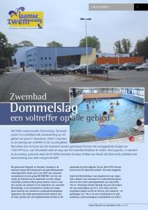 Dommelslag. Zwembad. een voltreffer op alle gebied [ IN DE KIJKER ] 5