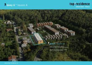 domy A * houses A  6 domů v nízkoenergetickém standardu energetický štítek A - mimořádně úsporná budova