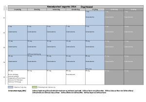 donderdag zomervakantie Zomervakantie 14-aug Zomervakantie Directieberaad
