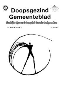 Doopsgezinde Gemeente Haren. 57 e jaargang, nummer 6 25 juni 2014