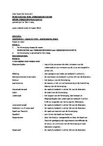 doorlopende statuten VERENIGING VAN ZORGAANBIEDERS VOOR ZORGCOMMUNICATIE gevestigd te Den Haag