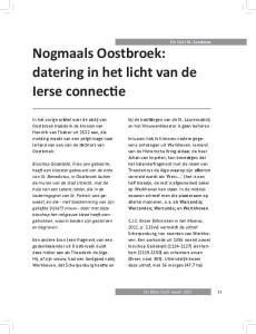 Dr. Gert M. Landman Nogmaals Oostbroek: datering in het licht van de Ierse connectie