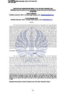 Dr. Hj. Masriyah, M.Pd Pendidikan Matematika, FMIPA, Universitas Negeri Surabaya,   Abstrak. Abstract