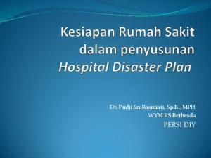 Dr. Pudji Sri Rasmiati, Sp.B., MPH WYM RS Bethesda PERSI DIY