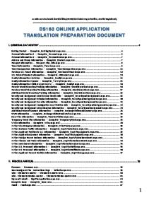 DS160 ONLINE APPLICATION TRANSLATION PREPARATION DOCUMENT