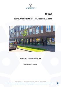DUITSLANDSTRAAT , 1363 BG ALMERE