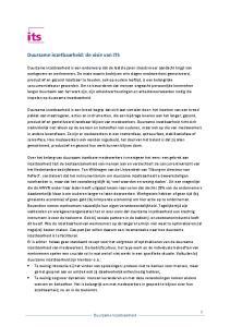Duurzame inzetbaarheid: de visie van ITS
