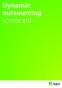 Dynamic outsourcing scorecard