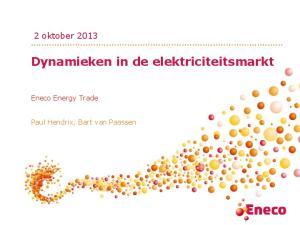 Dynamieken in de elektriciteitsmarkt