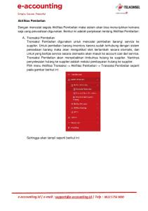 e-accounting.id   Telp : Aktifitas Pembelian