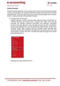 e-accounting.id   Telp : Aktifitas Penjualan