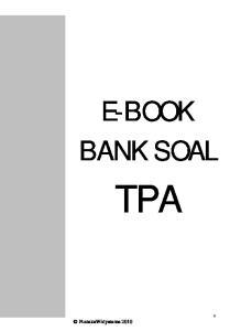 E-BOOK BANK SOAL TPA