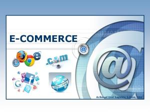 E-COMMERCE. Achmad Dwi Saputro S.Kom, MM