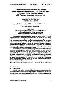 E-Jurnal Agroekoteknologi Tropika ISSN: Vol. 3, No. 3, Juli 2014