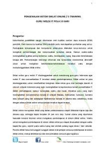 E-TRAINING GURU MELEK IT POLA 16 HARI