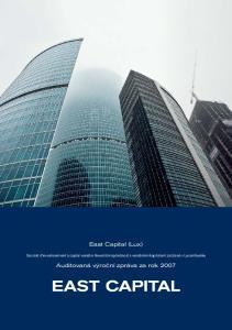 East Capital (Lux) Société d investissement à capital variable (Investiční společnost s variabilním kapitálem) založená v Lucembursku