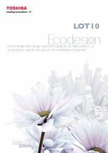 Ecodesign LOT10. Ecodesign