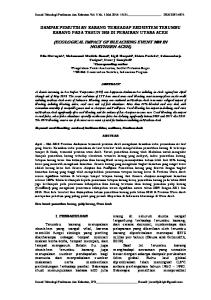 (ECOLOGICAL IMPACT OF BLEACHING EVENT 2010 IN NORTHERN ACEH)