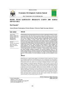 Economics Development Analysis Journal