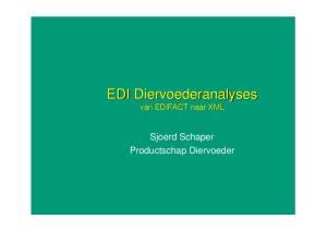 EDI Diervoederanalyses. Sjoerd Schaper Productschap Diervoeder