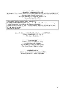 Editor : Dr. Sutarno, M.Pd (UAD), Prof. Dr. Sukarno (UNTIDAR), Dra. S.T. Martaningsih, M.Pd (UAD) Tata Aksara : fadilatama