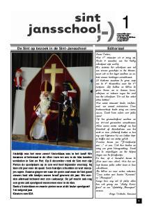 Editoriaal. De Sint op bezoek in de Sint-Jansschool