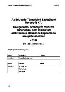 Educatio Társadalmi Szolgáltató Nonprofit Kft