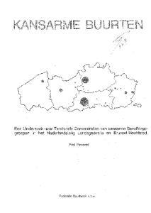 Een Onderzoek naar Territoriale Concentraties van kansarme Bevo!kings. groepen in het Nederlandstalig Landsgedeelte en Brussel-Hoofdstad