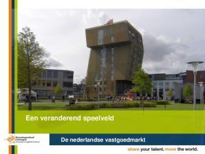 Een veranderend speelveld. De nederlandse vastgoedmarkt