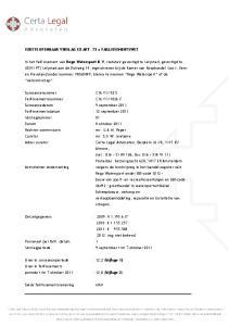 EERSTE OPENBAAR VERSLAG EX ART. 73 a FAILLISSEMENTSWET